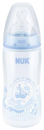 NUK Baby Blue FIRST CHOICE+ baby bottle Schiffe blue - large image