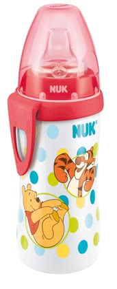 NUK Disney Winnie the Pooh Active Cup - The NUK Disney Winnie the Pooh Active Cup with its leak-proof soft spout made ​​of silicone is extremely robust and durable.