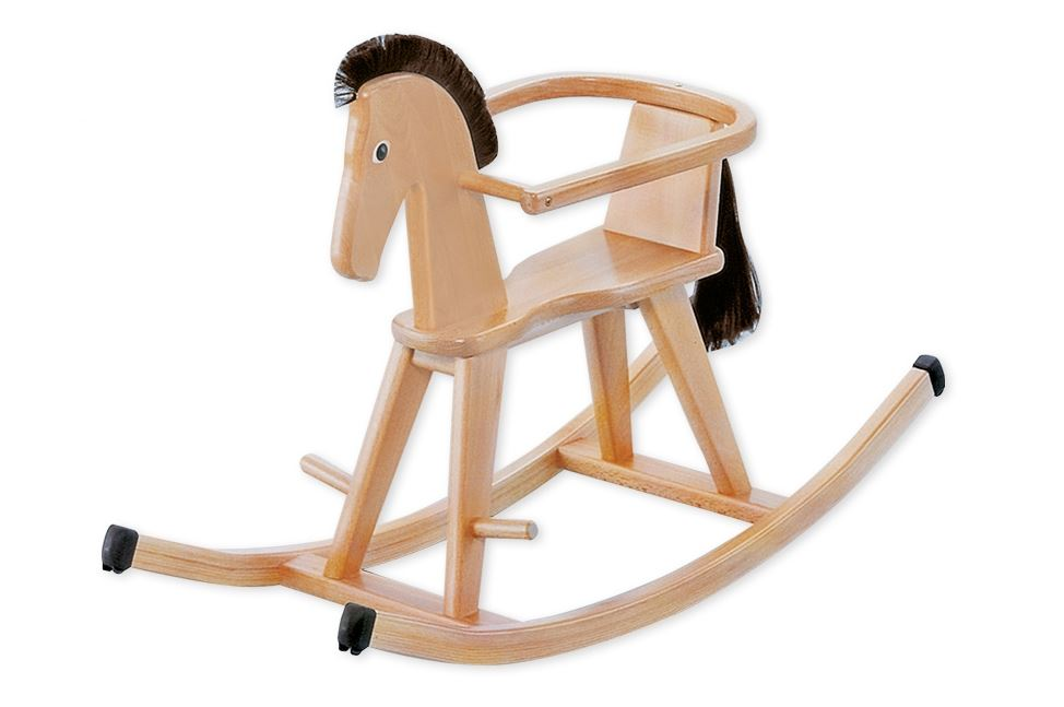 """Geuther Rocking Horse """"Halla"""" 2018 natur - Buy at kidsroom   Toys   Movement & outdoor"""