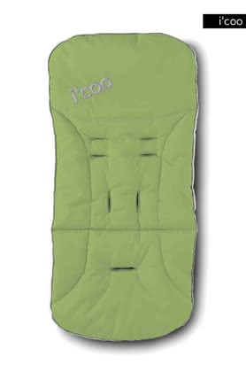 icoo 2 way seatpad for Pluto 2011, Lime - large image