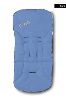 icoo 2 way seatpad for Pluto 2011, Blue - large image