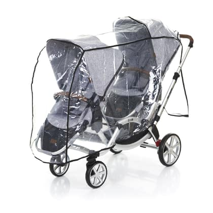 ABC-Design Rain Cover for Zoom -  * The ABC-Design rain cover for Zoom protects your children in any wind and weather. It can be pulled over your double stroller Zoom (not included in delivery) in a quick and easy way so that you are ready to go on exciting strolls in the rain.
