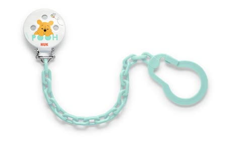 NUK Disney Winnie the Pooh soother chain - With the NUK Disney Winnie the Pooh soother chain your baby's pacifier is always in place.
