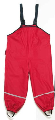Playshoes rain dungarees with fleece lining - large image