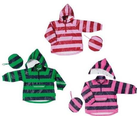 Playshoes rain cape, striped, with matching bag 2014 - large image