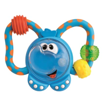 "Chicco Baby Rattle ""Funny Little Rascals"" - * The Chicco rattle ""Lustige Rasselbande"" fits ideal in small children hands and provides a lot of rattle-fun"