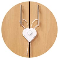 Reer Cabinet door guard with flexible band - * The Reer cabinet lock with a flexible band offers easy assembly and your sweetie a lot of protection