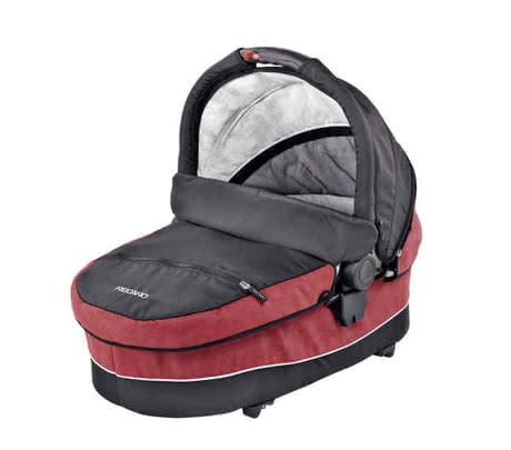 "Recaro Carry Cot, Bellini punched ""Cherry/Black"" 2012 - large image"