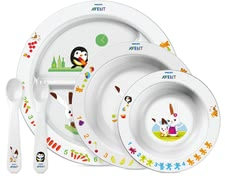 AVENT Baby Mealtime Set -  * With the colorful Avent dishes makes every meal fun.
