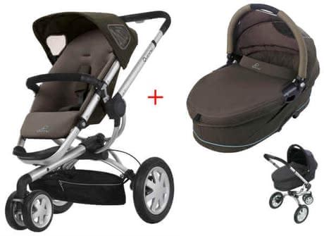 Quinny BUZZ 3 Kinderwagen 2011, Brown Boost + Dreami - large image