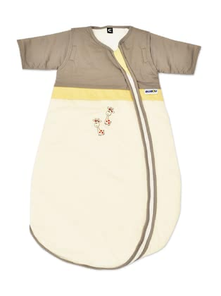 Gesslein Sleeping Bag Bubou, Giraffe – Beige -  * This super cosy sleeping bag accompanies your little safely into the land of dreams. The adorable motif as well as subtle colours turn this sleeping bag into a comfortable companion that guarantees sweet dreams.