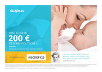 kidsroom gift voucher 200 EUR - * You are looking for a gift for a new Earthling? * Suprise your loved ones with a shopping voucher from kids-room.com, your Baby and children's outfitter on the internet.