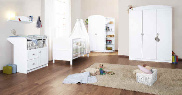 pinolino kinderzimmer laura, weiß - buy at kidsroom uk