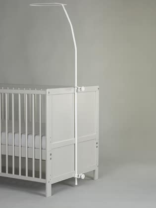 Alvi Canopy Rod Standard - * The white Alvi sky bar is suitable for all children cribs and can be mounted very easily.