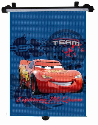 Roll-up car sunshade - * The sun blind has two mounting options and is printed with fun designs