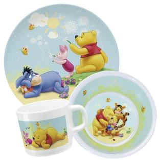 Childrenu0027s melamine dinnerware set Winnie the Pooh - large image  sc 1 st  Baby products online store - worldwide shipping & Childrenu0027s melamine dinnerware set Winnie the Pooh - Buy at kidsroom ...