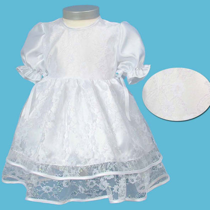 Baby-Staab dress, white - large image