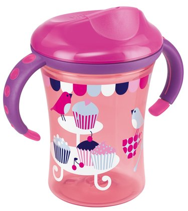 NUK Easy Learning Trainer Cup, 250 ml -  * Trains the drinking from the cup rim * leap-proof special valve * For children from 8 months