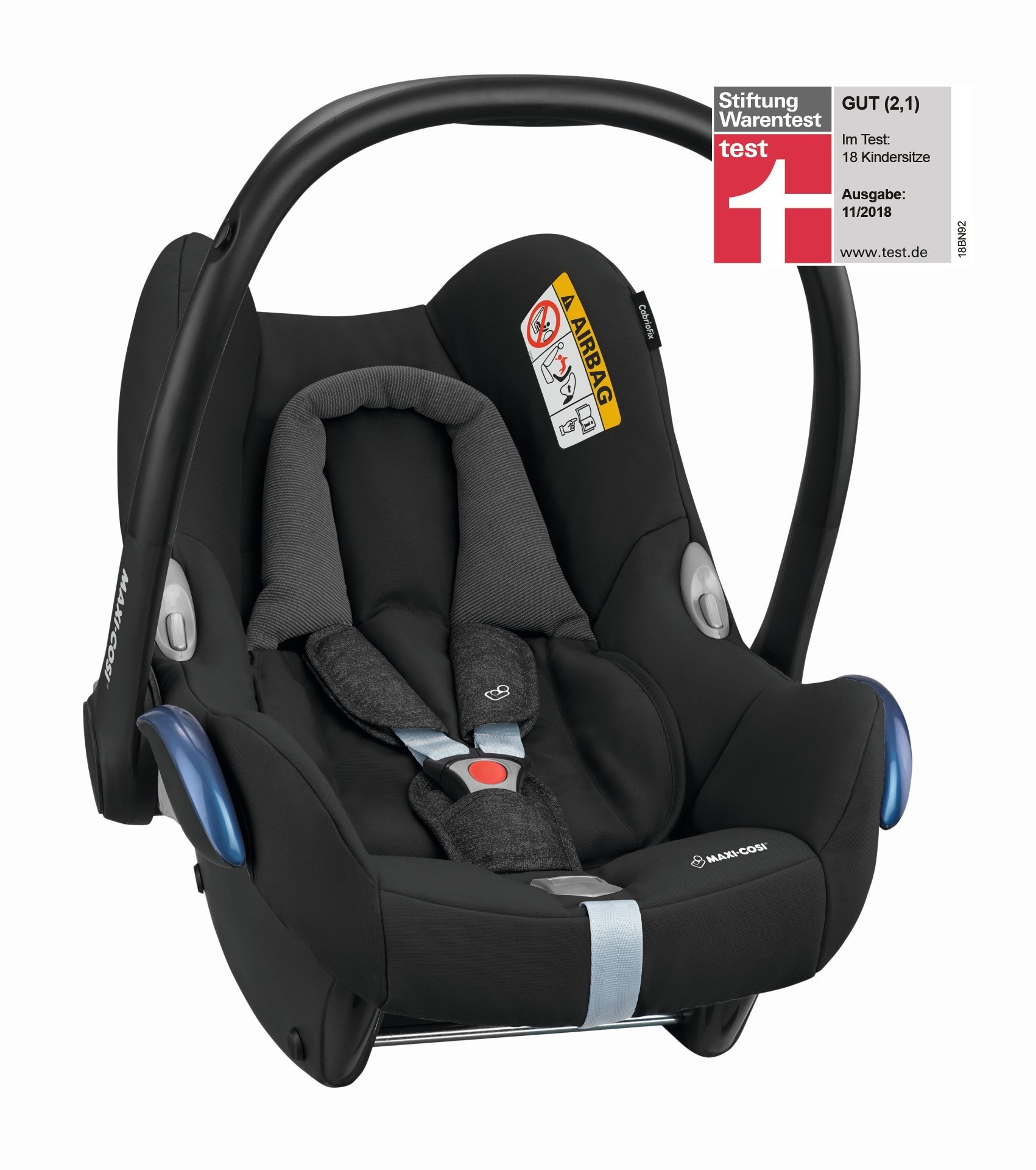 maxi cosi infant carrier cabriofix 2018 nomad black buy at kidsroom car seats. Black Bedroom Furniture Sets. Home Design Ideas
