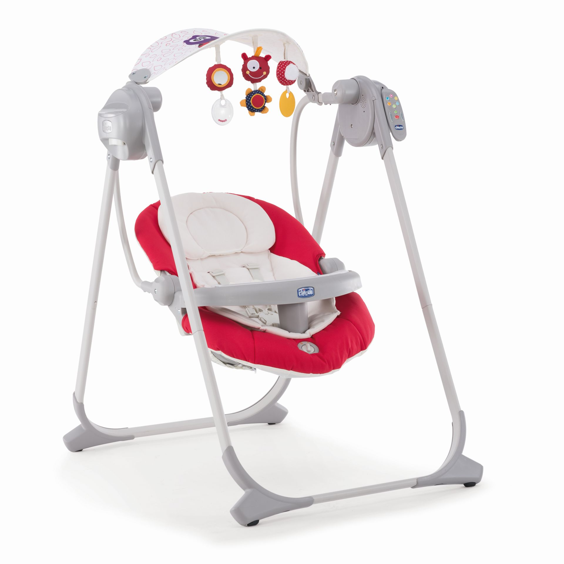 Chicco baby swing polly swing up buy at kidsroom for Chaise 3 en 1 chicco