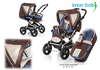 Knorr pushchair Alu Fly Swing 2012 977-cacao-azur - large image 1