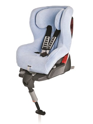 Britax Römer Summer cover King Plus & Safefix Plus, light blue - * The Britax Römer summer seat-cover will quick and easy be pulled over the usual seat-cover and is matching for the child car seats Britax Römer Safefix Plus and Römer King Plus
