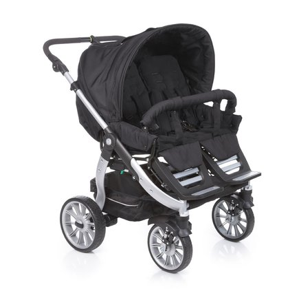 Teutonia Twin & sibling stroller Team Cosmo 5000_Gala Black 2015 - large image