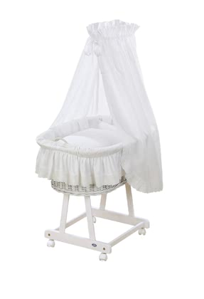 "Alvi Complete Set Bassinet ""Jola"" – Teddy Romance -  * The bassinet ""Jola"" by Alvi is suitable for every nursery and interior style, and adds a particularly romantic and cosy touch to your baby's very first bed."