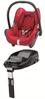 Maxi-Cosi Cabriofix incl. Family Fix base Intense red 2012 - large image 1