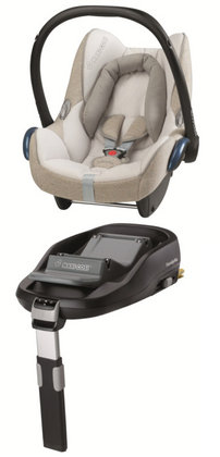 Maxi-Cosi Cabriofix incl. Family Fix base Coloured sand 2012 - large image
