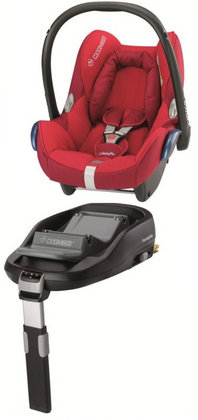Maxi-Cosi Cabriofix incl. Family Fix base Intense Red 2013 - large image