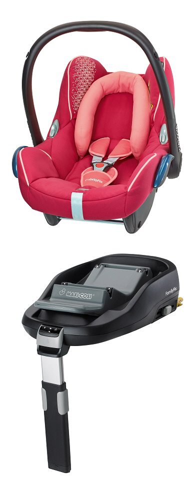 maxi cosi cabriofix incl family fix base 2014 origami rose buy at kidsroom car seats. Black Bedroom Furniture Sets. Home Design Ideas