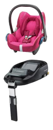 Maxi-Cosi Cabriofix incl. Family Fix base Berry Pink 2015 - large image