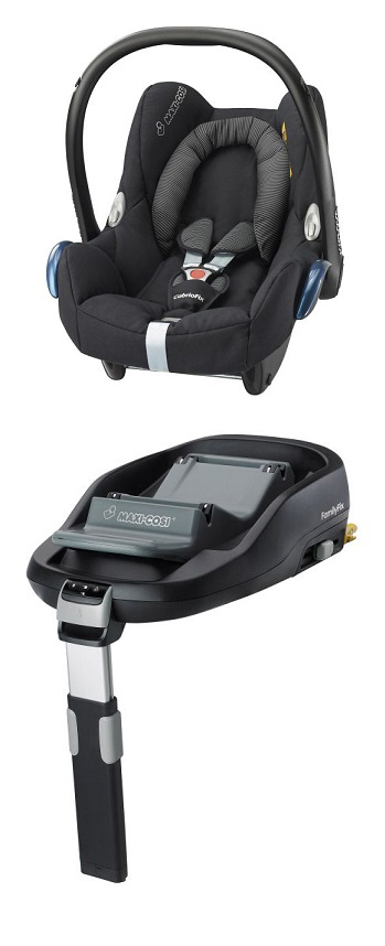 maxi cosi cabriofix incl family fix base 2016 black raven. Black Bedroom Furniture Sets. Home Design Ideas