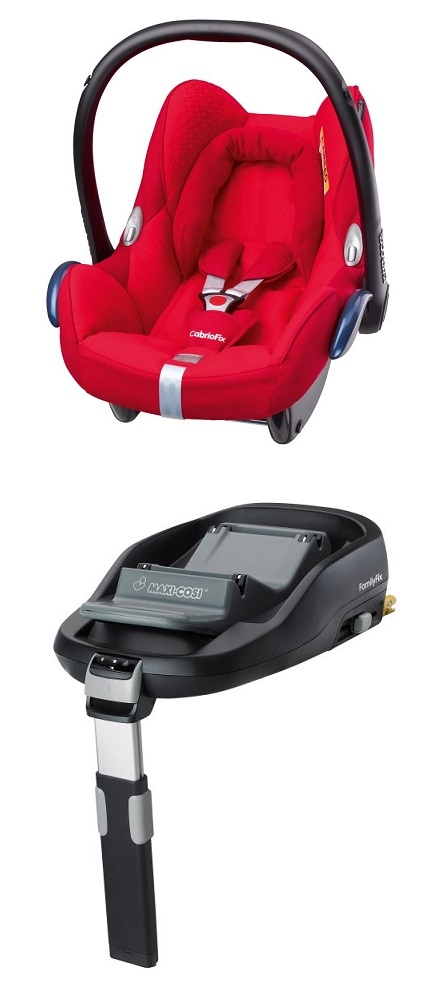 maxi cosi cabriofix incl family fix base 2016 origami red buy at kidsroom car seats. Black Bedroom Furniture Sets. Home Design Ideas