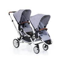 ABC-Design Zoom incl. 2 pushchair attachments -  * The ABC-Design double stroller Zoom keeps you moving forward with comfort and ease.