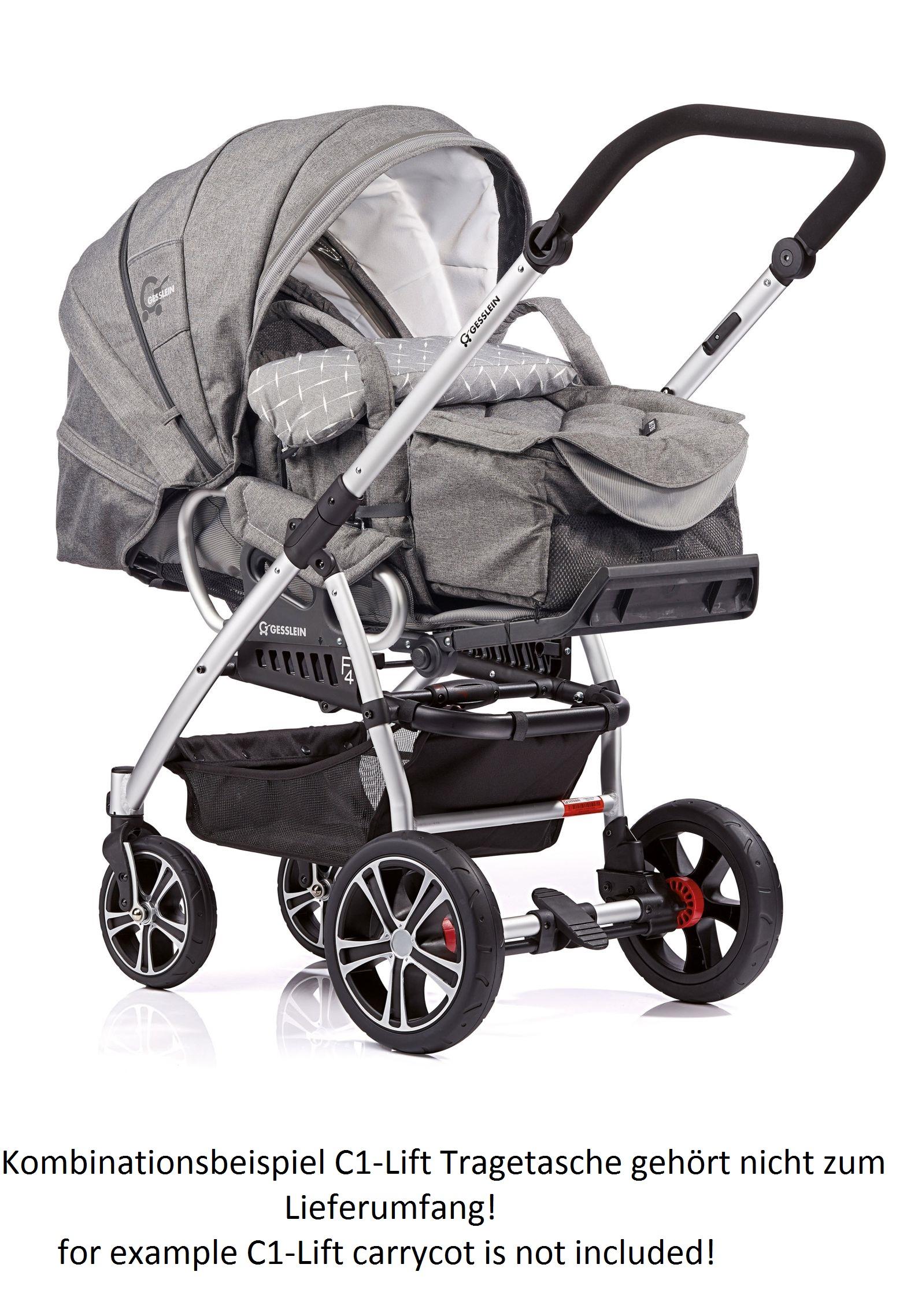 gesslein stroller f4 air 2018 866866 buy at kidsroom strollers. Black Bedroom Furniture Sets. Home Design Ideas
