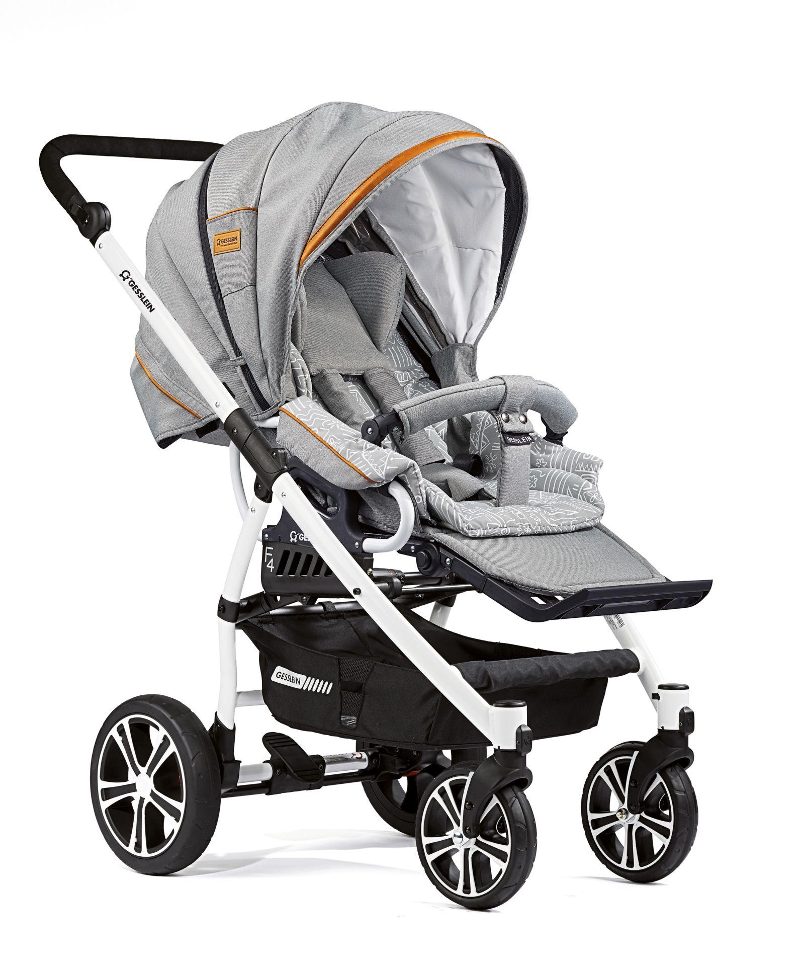 gesslein stroller f4 air 2018 663663 buy at kidsroom strollers. Black Bedroom Furniture Sets. Home Design Ideas