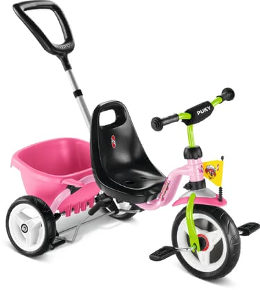 Puky Tricycle CAT 1S - * The PUKY trike CAT 1S has soft comfort tyres and the tipper provides a lot of room for the toys