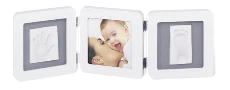 "Baby Art ""Double Print Frame"" - * The three-piece set can be equipped with hand and footprint, and a picture of your sunshine and becomes a real eye-catcher"