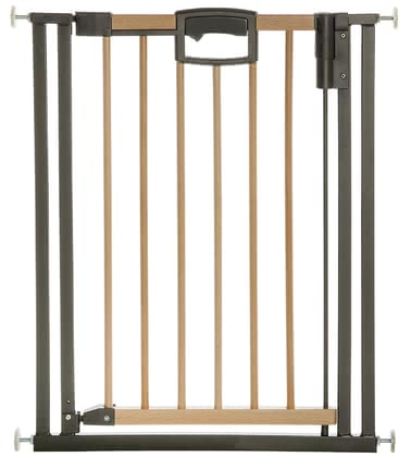 Geuther Door gate Easylock Wood, natural/silver 2017 - large image
