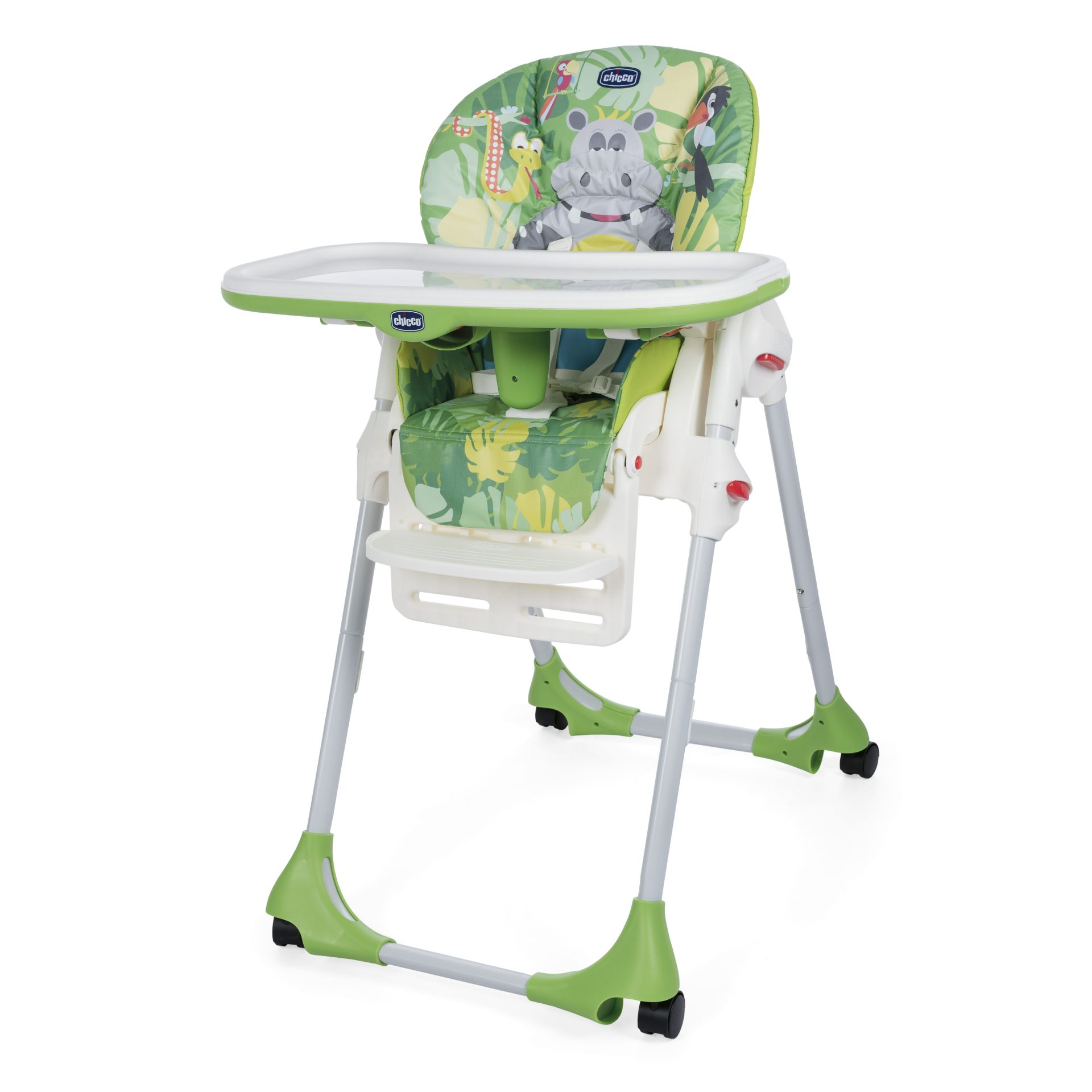 Chicco Highchair Polly 2 In 1 HAPPY JUNGLE 2016   Large Image 1 ...
