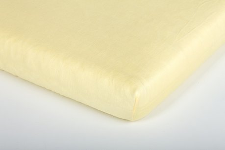 Träumeland Fitted cot sheet, jersey Gelb 2013 - large image