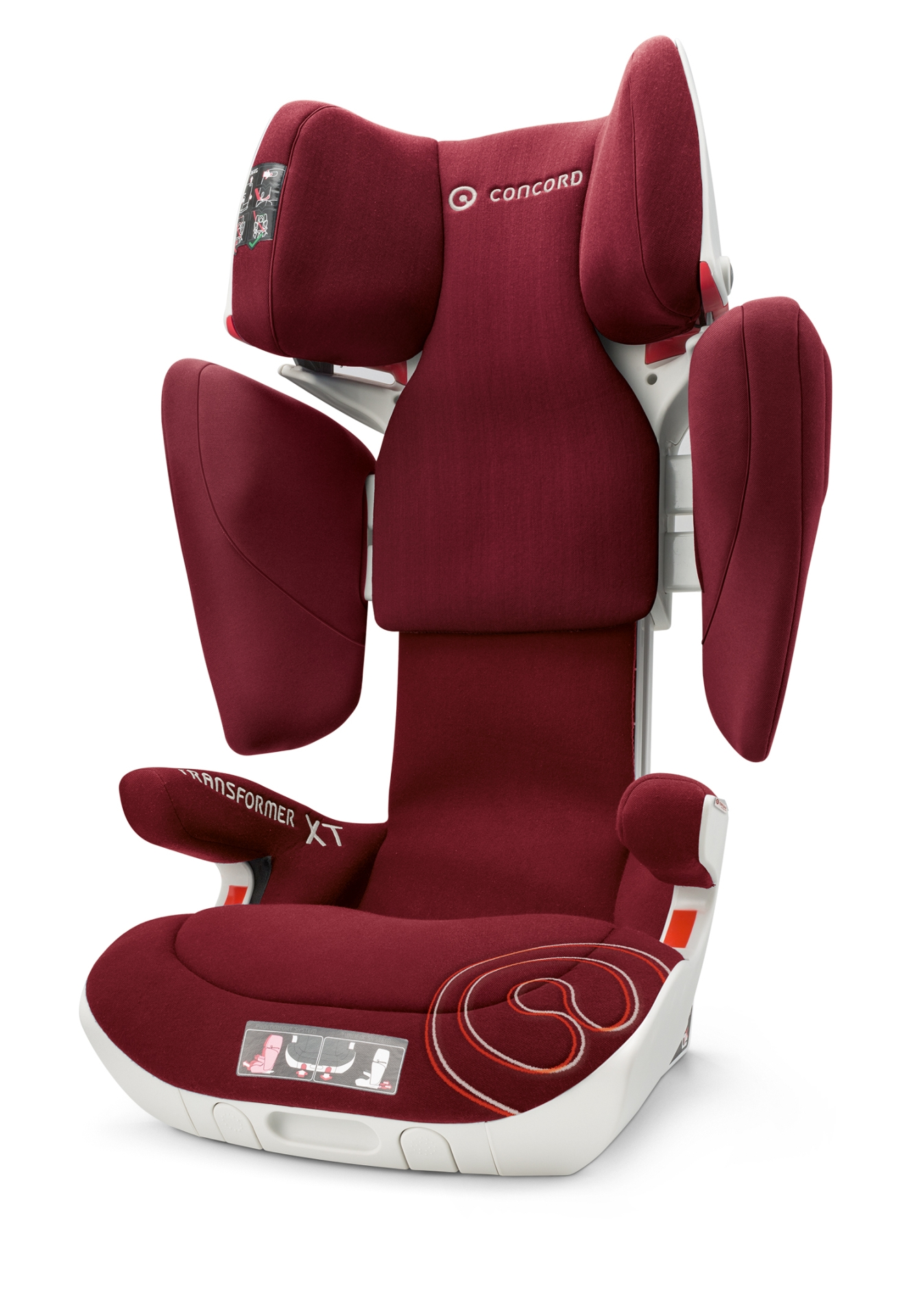 concord child car seat transformer xt 2018 bordeaux red buy at kidsroom car seats isofix. Black Bedroom Furniture Sets. Home Design Ideas