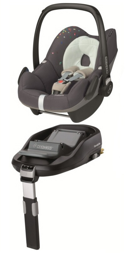 maxi cosi pebble including familyfix base 2014 confetti buy at kidsroom car seats isofix. Black Bedroom Furniture Sets. Home Design Ideas