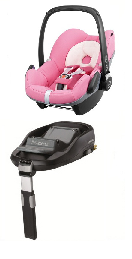 maxi cosi pebble including familyfix base 2014 pink presious buy at kidsroom car seats. Black Bedroom Furniture Sets. Home Design Ideas