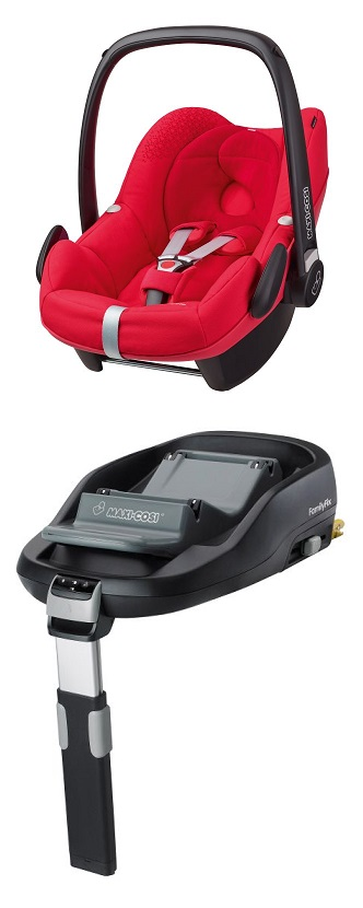 maxi cosi pebble including familyfix base 2016 origami red buy at kidsroom car seats. Black Bedroom Furniture Sets. Home Design Ideas