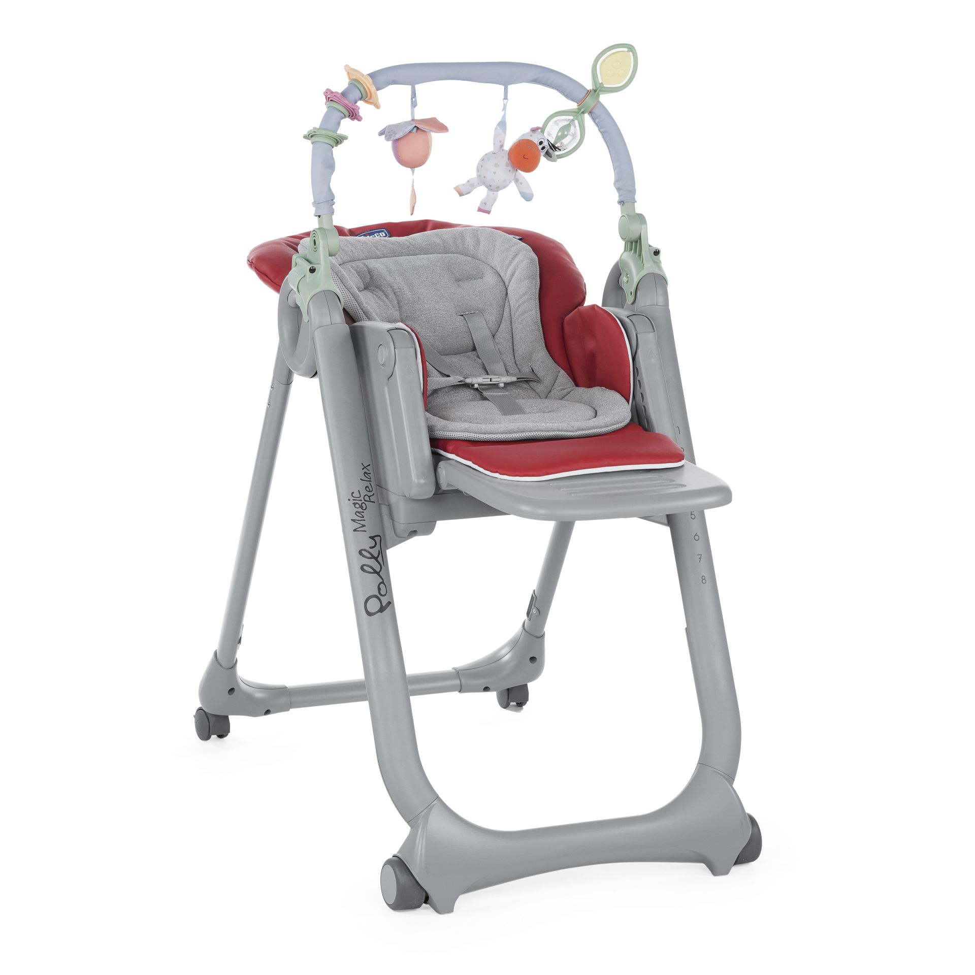 Chicco highchair polly magic relax 2018 red buy at for Chaise haute chicco