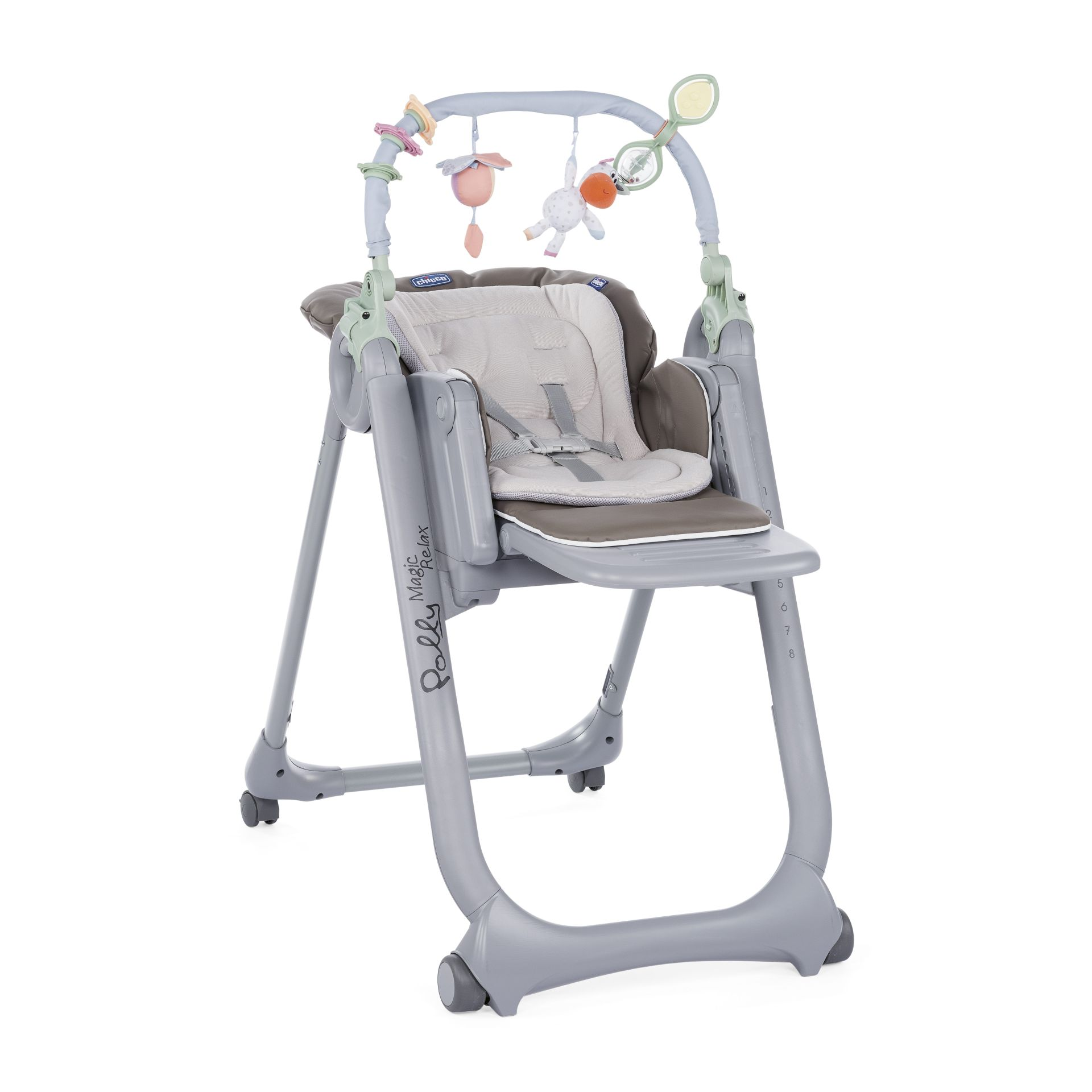 Chicco highchair polly magic relax 2018 dove grey buy at for Chaise haute polly magic