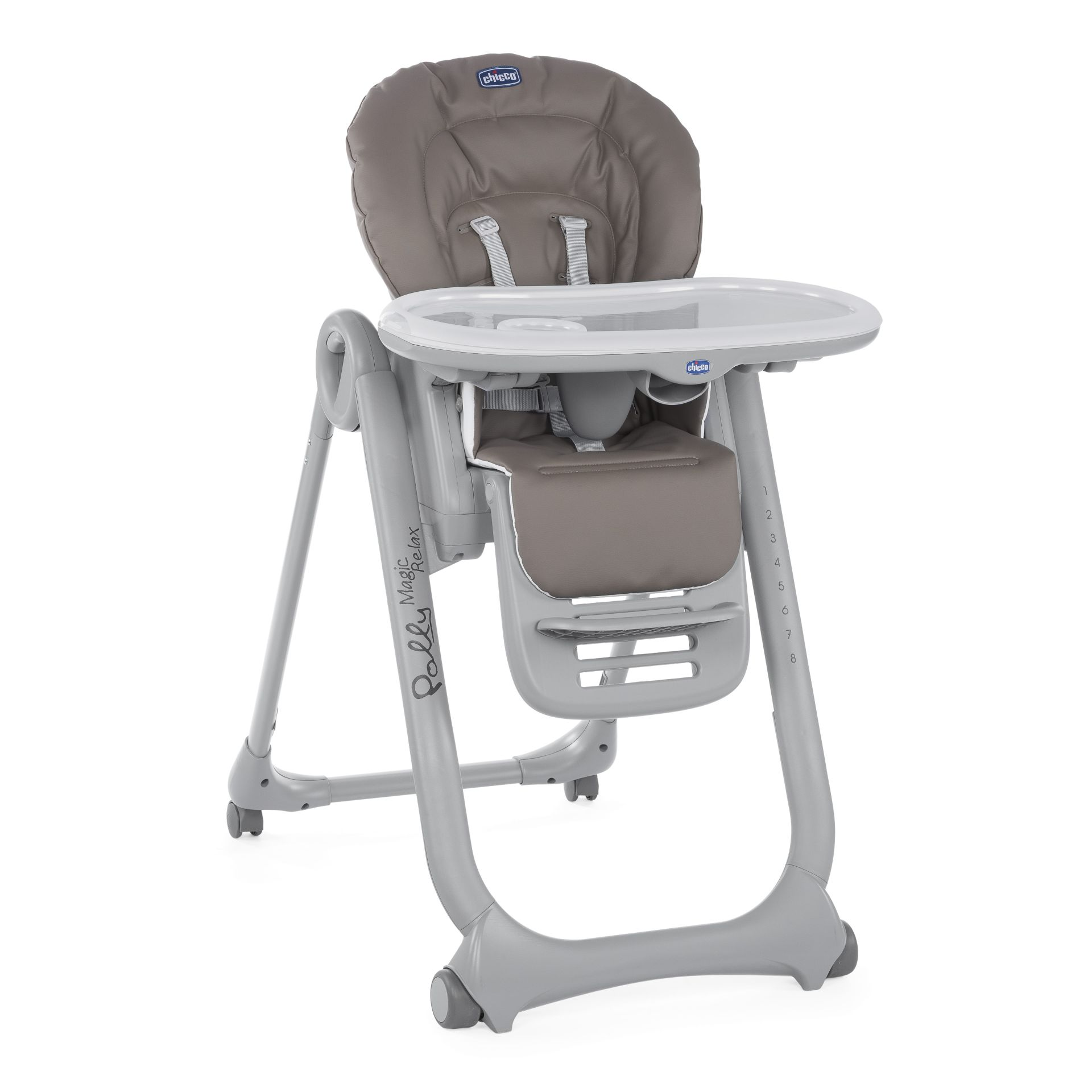 Chicco highchair polly magic relax 2018 dove grey buy at for Chaise haute chicco polly